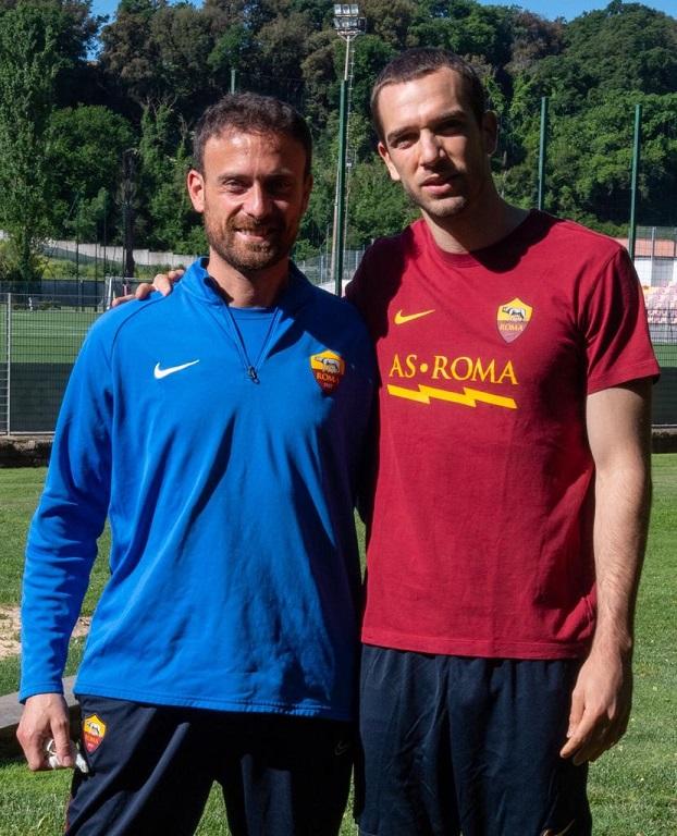 Marco Esposito con Pau Lopez (foto Luciano Rossi)