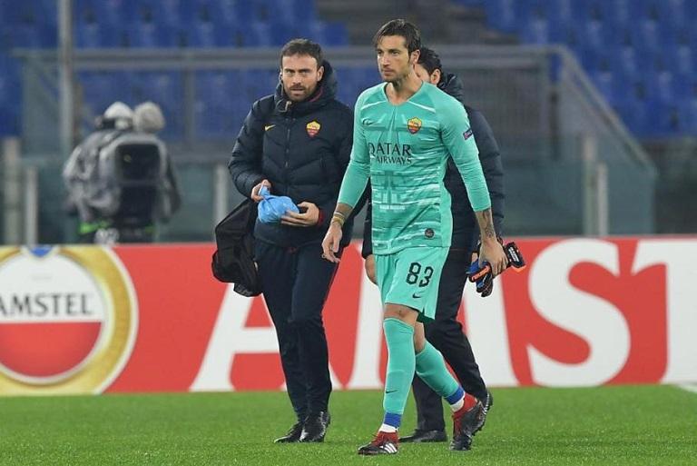 Marco Esposito con Antonio Mirante (foto Luciano Rossi)